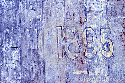Painted Old Wall With 1895 Date