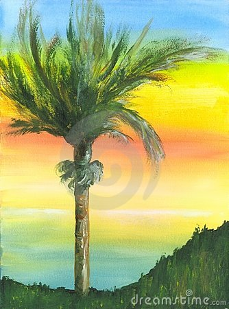 Painted Palm Tree