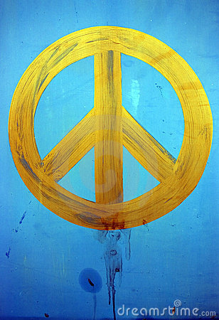 Painted peace Stock Photo