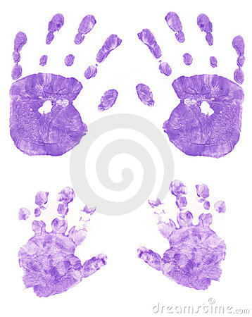 Free Painted Purple Hands Royalty Free Stock Photos - 299028