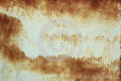 Painted rusty metal surface Stock Photo