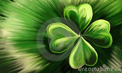 Painted Shamrock