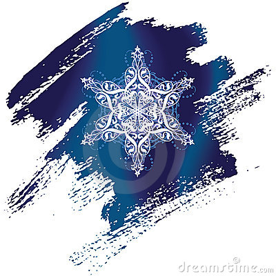 Painted snowflake