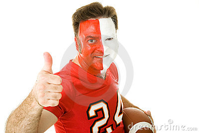 Painted Sports Fan Thumbsup