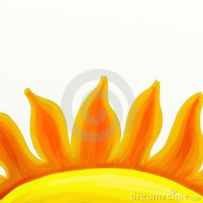 Painted sun flames