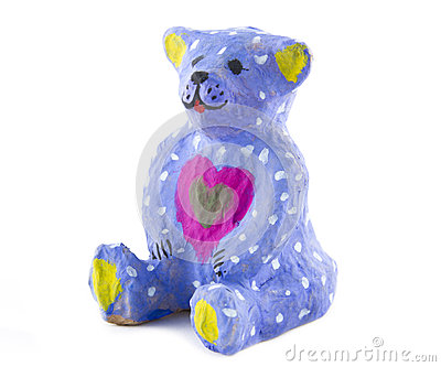 Painted toy bear