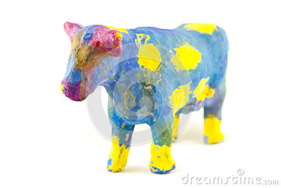 Painted toy cow