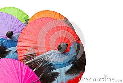 Painted umbrellas
