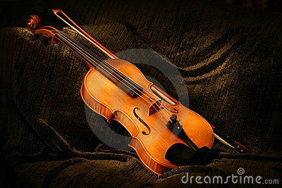 Painted Viola Stock Photo