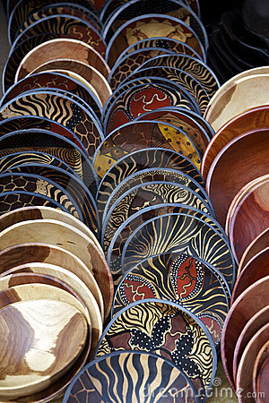 Painted wooden bowls, South Africa