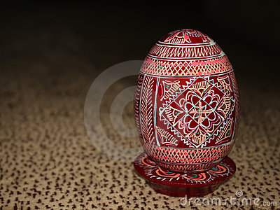 Painted Wooden Easter egg