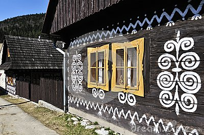Painted Wooden House