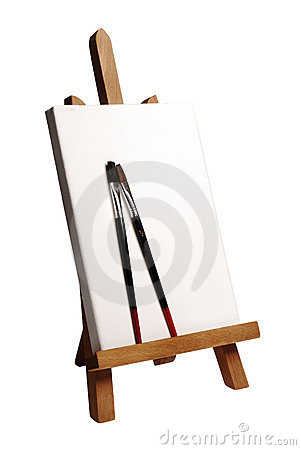 Painter Easel Royalty Free Stock Photos - Image: 8496988
