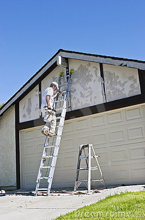 Painter on Ladder