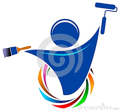 Free Painter Logo Stock Image - 25183381