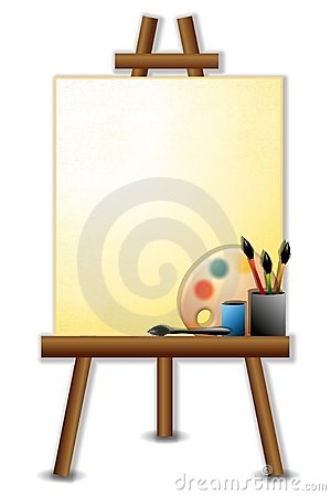 Painter s Canvas Easel Brushes