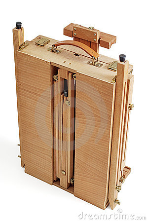 Painter s case with easel