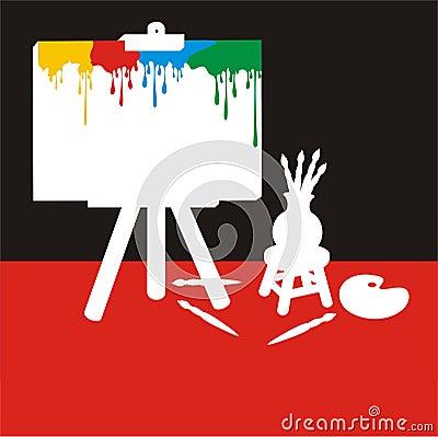 Painter Stuff Color Silhouette