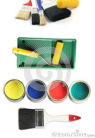 Free Painter Tools Stock Photos - 4085053