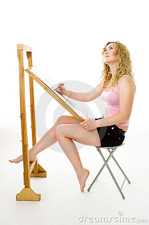 Painter waiting for inspiration