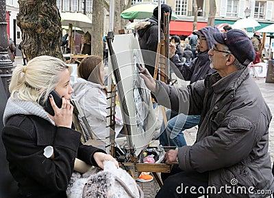 Place du Tertre Paris Editorial Photo
