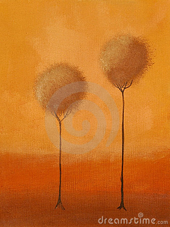 Painting of of 3 trees
