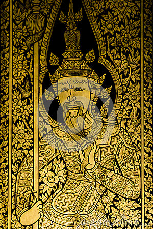 Painting Ancient art thai style