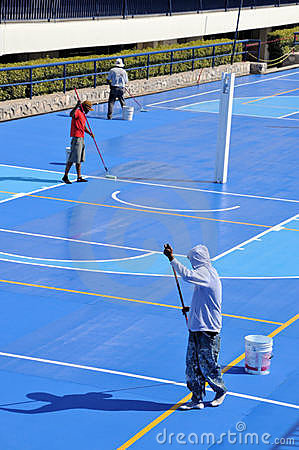 Painting Basketball court