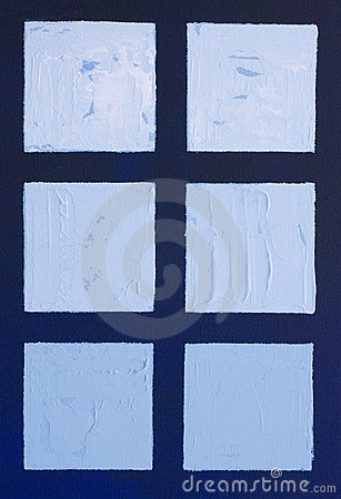 Painting of blue squares