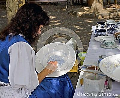 Painting ceramics Editorial Image