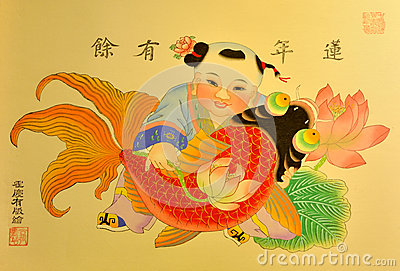 Painting in Chinese traditional style