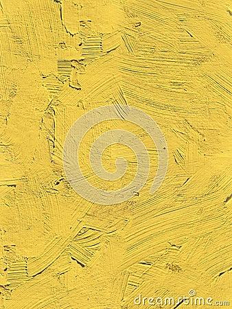 Free Painting Close Up Of Vivid Primrose Yellow Pantone Color Royalty Free Stock Photo - 86710435