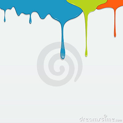 Painting colorful dripping vector