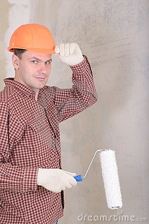 Paint Contractors on Painting Contractor Royalty Free Stock Photography   Image  6602947