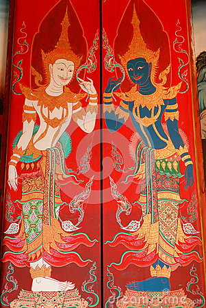 Painting on the doors in the church