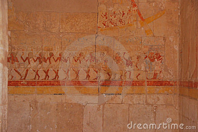 Painting in Egyptian temple