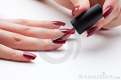 Painting Fingernail Stock Images - Image: 17423584