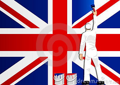 Painting The Flag Of UK