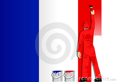 Painting France Flag