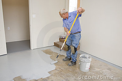 Painting garage floor