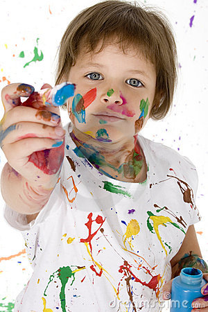 Free Painting Girl Stock Images - 891574