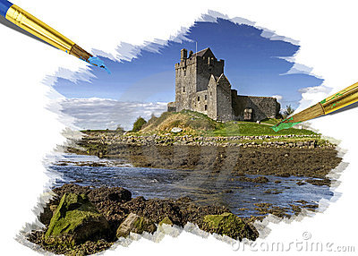 Painting idyllic castle