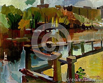 Painting landscape