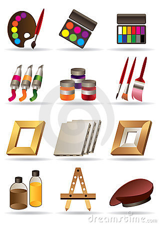 Painting materials for artists