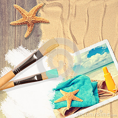 Painting Summer Postcard