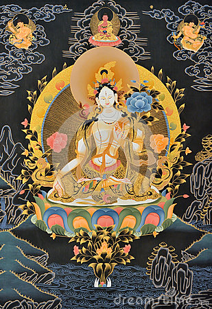 Painting of Tibet traditional religion