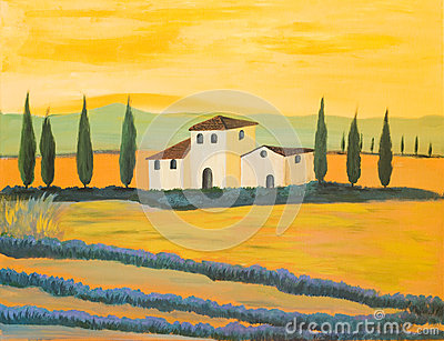 Painting of a Tuscan Landscape