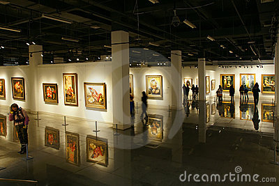Paintings exhibition Editorial Image