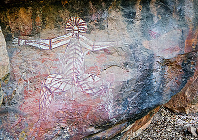 Paintings on rocks in australia