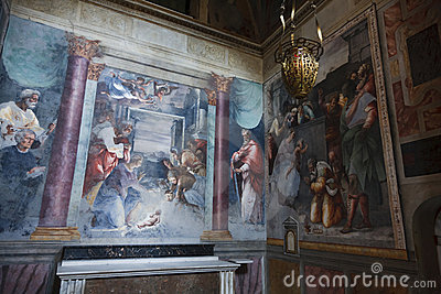 Paintings in a Roman Church